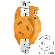 Bryant 70520IG TECHSPEC® Single Receptacle, L5-20, 20A, 125V, Orange