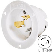 Bryant 70520MB TECHSPEC® Base, L5-20, 20A, 125V, White