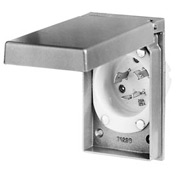 Bryant 70520MBWP Weather Protective Power Inlets, L5-20, 20A, 125V, Aluminum