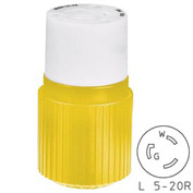 Bryant 70520NCCR TECHSPEC® Connector, L5-20, 20A, 125V, Yellow