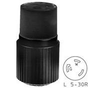 Bryant 70530NCB TECHSPEC® Connector, L5-30, 30A, 125V, Black