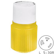 Bryant 70530NCCR TECHSPEC® Connector, L5-30, 30A, 125V, Yellow