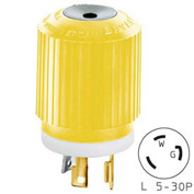 Bryant 70530NPCR TECHSPEC® Plug, L5-30, 30A, 125V, Yellow