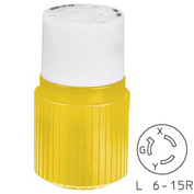 Bryant 70620NCCR TECHSPEC® Connector, L6-20, 20A, 250V, Yellow/White