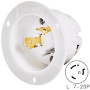 Bryant 70720MB TECHSPEC® Base, L7-20, 20A, 277V AC, White