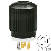 Bryant 70720NP TECHSPEC® Plug, L7-20, 20A, 277V AC, Black/White