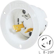 Bryant 70920MB TECHSPEC® Base, L8-20, 20A, 600V AC, White