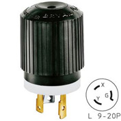 Bryant 70920NP TECHSPEC® Plug, L9-20, 20A, 600V AC, Black/White
