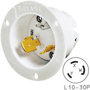 Bryant 71030MB TECHSPEC® Base, L10-30, 30A, 125/250V, White