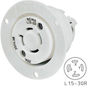 Bryant 71530MB TECHSPEC® Base, L15-30, 30A, 3ph 250V AC, White