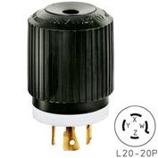 Bryant 72020NP TECHSPEC® Plug, L20-20, 20A, 3ph 347/600V AC, Black/White