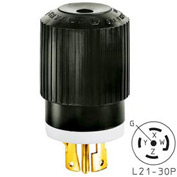 Bryant 72130NP TECHSPEC® Plug, L21-30, 30A, 3ph 120/208V AC, Black/White