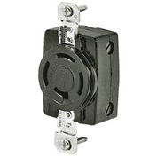 Bryant 7410G TECHSPEC® Receptacle, 3PH, 20A, 250V, Black