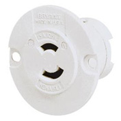 Bryant 7468N TECHSPEC® Midget Locking, ML-1R, 15A, 125V, White
