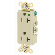 Bryant 9300IL Hospital Grade, 20A, 125V Receptacle, Illuminated Face, Ivory