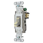 Bryant CS320BAL Commercial Grade Toggle Switch, Three Way, 20A, 120/277V AC, Almond