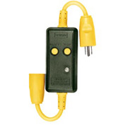 Bryant GFCI615 CIRCUIT WATCH Ground Fault Devices, 15A, 125V AC, Yellow/Black, 6 Feet