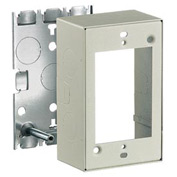 Bryant HBL5745IV 1 Gang Switch and  Receptacle Box, Ivory