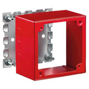 Bryant HBL5753R 2 Gang Extra Deep Alarm Box, Red