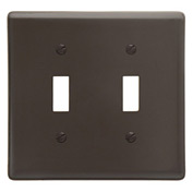 Bryant NP2 Toggle Plate, 2-Gang, Standard, Brown Nylon