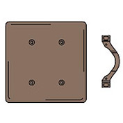 Bryant NP24 Strap Mounted Blank Plate, 2-Gang, Standard, Brown Nylon
