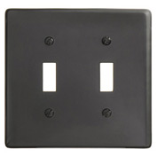 Bryant NP2BK Toggle Plate, 2-Gang, Standard, Black Nylon