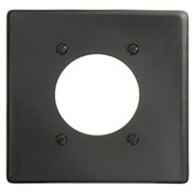 Bryant NP703BK Single Receptacle Plate, 2-Gang 1 Device-Gang, Standard, Black Nylon