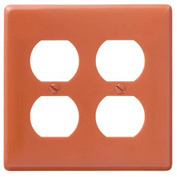 Bryant NP82OR Duplex Plate, 2-Gang, Standard, Orange, Nylon