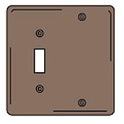 Bryant NPJ113 Toggle Blank Combo Plate, 2-Gang, Mid-Size, Brown Nylon