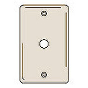 Bryant NPJ11AL Telephone and Coax Plate, 1-Gang, Mid-Size, Almond Nylon