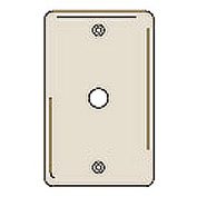 Bryant NPJ11I Telephone and Coax Plate, 1-Gang, Mid-Size, Ivory Nylon