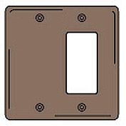 Bryant NPJ1326 Blank Styleline Combo Plate, 2-Gang, Mid-Size, Brown Nylon