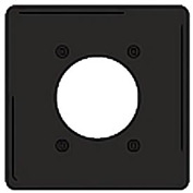Bryant NPJ703BK Single Receptacle Plate, 2-Gang 1 Device-Gang, Mid-Size, Black Nylon