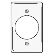 Bryant NPJ724W Single Receptacle Plate, 1-Gang, Mid-Size, White Nylon, 2.15 open