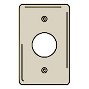 Bryant NPJ7I Single Receptacle Plate, 1-Gang, Mid-Size, Ivory Nylon, 1.40 open