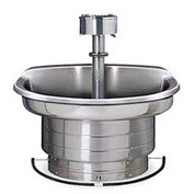 Bradley Wash Fountain, 54 In Wide, Semi Circular, Series WF2704, 4 Person