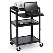 Bretford® Open Base Adjustable AV Projector Cart w/ Notebook Shelf