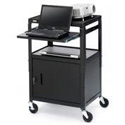 Bretford® Cabinet Base Adjustable AV Projector Cart w/ Notebook Shelf