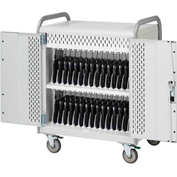 "MDMLAP30-CTAL 30-Laptop Pulse L Cart Charge Only w/ Back Doors, 41""x26""x43"""