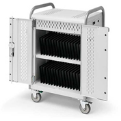 """MDMTAB30-CTAL 30-Tablet Pulse S Cart, Charge Only w/ Back Doors, 34.5""""x25""""x43"""""""