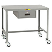 Little Giant®  Machine Table, 24 x 36 x 30, Swivel Casters w/Brakes, Drawer