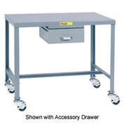 Little Giant®   Machine Table, 24 x 48 x 30, Swivel Casters w/Brakes
