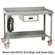 Little Giant®  Mobile W/B, Back/End Stop, Riser Shelf, Fixed Ht., 28 x 48