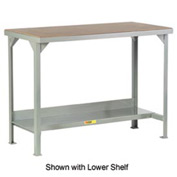 Little Giant®  Welded Workbench w/Open Base, Hardboard over Steep Top, 36 x 84