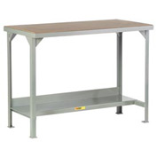 Little Giant®  Welded Workbench, Lower Shelf, Hardboard over Steep Top, 36 x 72