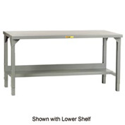 "Little Giant® 60""W x 36""D Steel Square Edge, Adjustable Welded Workbench w/Open Base"
