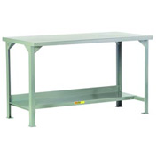Little Giant®  Steel Square Edge Welded Workbench w/Lower Shelf, 24 x 60