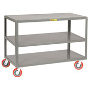 Little Giant® 3 Shelf Mobile Table 3IP-2436-6PY - 36 x 24 3600 Lb. Capacity