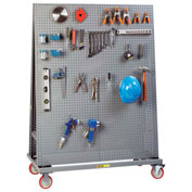 "Little Giant Mobile Pegboard A-Frame AFPB2S2448-TL60 - 60"" Tall, 2 Sided"