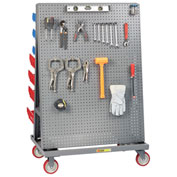 "Little Giant® Mobile A-Frame - Lean Tool Cart, Pegboard/Louvered Panels, 24""D x 36""W"